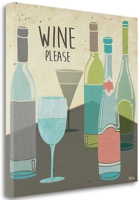 Tangletown Fine Art 'Wine Please' Graphic Art Print on Canvas; 20'' H x 20'' W