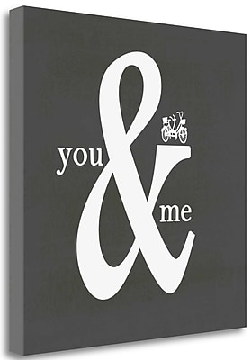 Tangletown Fine Art 'You and Me' Textual Art on Wrapped Canvas; 23'' H x 23'' W