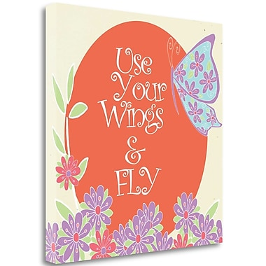 Tangletown Fine Art 'Use Your Wings' Textual Art on Canvas; 35'' H x 35'' W