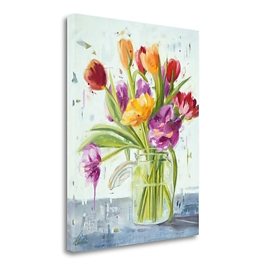 Tangletown Fine Art 'Tulips' Print on Wrapped Canvas; 28'' H x 23'' W
