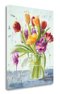 Tangletown Fine Art 'Tulips' Print on Wrapped Canvas; 20'' H x 16'' W
