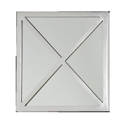 WorldsAway X Square Accent Mirror; Silver Leaf