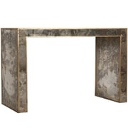 WorldsAway Reverse Console Table; Gold