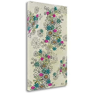 Tangletown Fine Art 'Retro Abstract Floral Light Background' Graphic Art Print on Wrapped Canvas