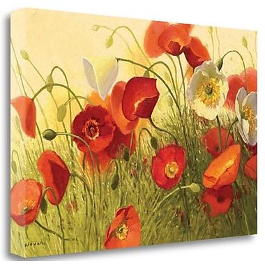 Tangletown Fine Art 'Havin a Heat Wave Wag' Print on Wrapped Canvas; 26'' H x 39'' W
