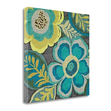 Tangletown Fine Art 'Floral Assortment III' Print on Wrapped Canvas; 24'' H x 24'' W