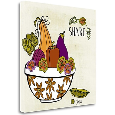 Tangletown Fine Art 'Share Harvest' Graphic Art Print on Wrapped Canvas; 20'' H x 20'' W