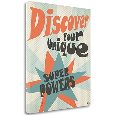 Tangletown Fine Art 'Super Power' Textual Art on Wrapped Canvas; 30'' H x 25'' W