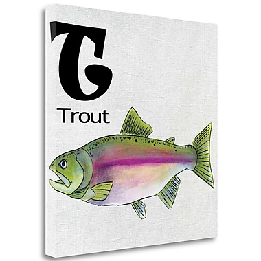 Tangletown Fine Art 'T - Trout' Graphic Art Print on Wrapped Canvas; 30'' H x 30'' W
