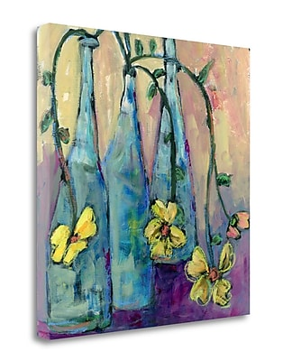 Tangletown Fine Art 'Simple Bottles' Print on Wrapped Canvas; 35'' H x 35'' W
