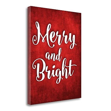Tangletown Fine Art 'Merry and Bright' Textual Art on Canvas; 23'' H x 18'' W