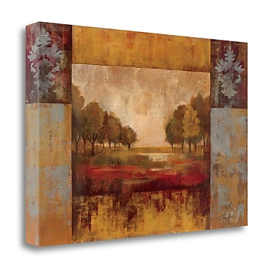 Tangletown Fine Art 'Landscape in Gold' Print on Wrapped Canvas; 32'' H x 48'' W
