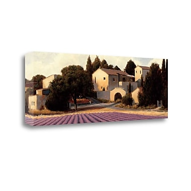 Tangletown Fine Art 'Lavender Fields Panel I Crop' Print on Wrapped Canvas; 13'' H x 39'' W