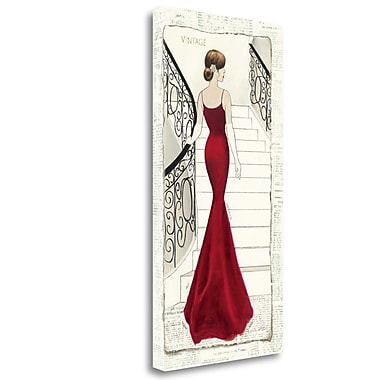 Tangletown Fine Art 'La Belle Rouge' Graphic Art Print on Wrapped Canvas; 34'' H x 17'' W