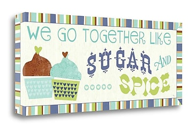 Tangletown Fine Art 'Luv 2 Bake V' Textual Art on Wrapped Canvas; 16'' H x 40'' W