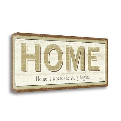 Tangletown Fine Art 'Home' Textual Art on Canvas; 13'' H x 32'' W