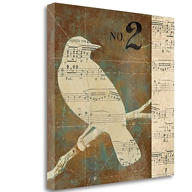Tangletown Fine Art 'Bird Silhouette I' Graphic Art Print on Wrapped Canvas; 24'' H x 24'' W