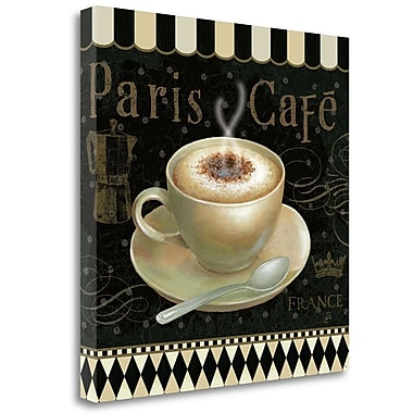 Tangletown Fine Art 'Cafe Parisien III' Vintage Advertisement on Wrapped Canvas; 20'' H x 20'' W
