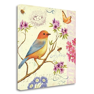 Tangletown Fine Art 'Birds and Bees II' Graphic Art Print on Wrapped Canvas; 24'' H x 24'' W