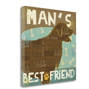 Tangletown Fine Art 'Best Friends I' Graphic Art Print on Wrapped Canvas; 20'' H x 20'' W