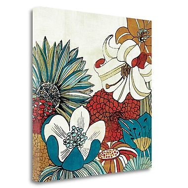 Tangletown Fine Art 'Contemporary Garden II' Graphic Art Print on Wrapped Canvas; 24'' H x 24'' W