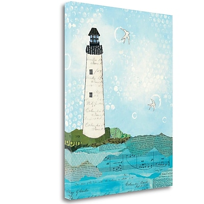 Tangletown Fine Art 'Coastal Notes II' Graphic Art Print on Wrapped Canvas; 28'' H x 22'' W