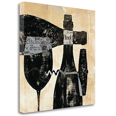 Tangletown Fine Art 'Wine Selection I' Vintage Advertisement on Canvas; 25'' H x 25'' W