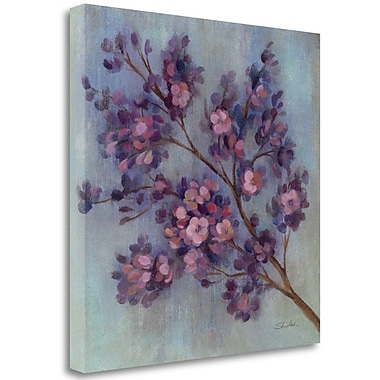 Tangletown Fine Art 'Twilight Cherry Blossoms II' Print on Wrapped Canvas; 24'' H x 24'' W