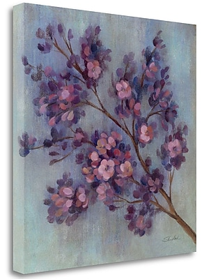 Tangletown Fine Art 'Twilight Cherry Blossoms II' Print on Wrapped Canvas; 30'' H x 30'' W