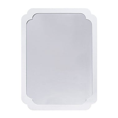 WorldsAway Pinched Corner Accent Mirror; White Lacquer