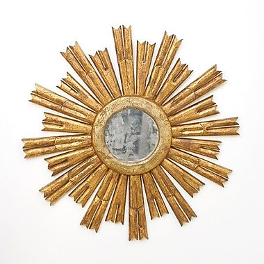 WorldsAway Starburst Accent Mirror; Gold Leaf