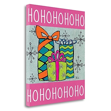 Tangletown Fine Art 'Happy Holidays III' Graphic Art Print on Wrapped Canvas; 20'' H x 16'' W