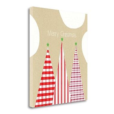 Tangletown Fine Art 'Krafty Merry Christmas' Graphic Art Print on Wrapped Canvas; 24'' H x 20'' W