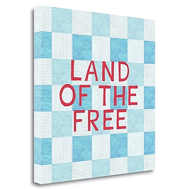 Tangletown Fine Art 'Land of the Free' Textual Art on Wrapped Canvas; 20'' H x 20'' W