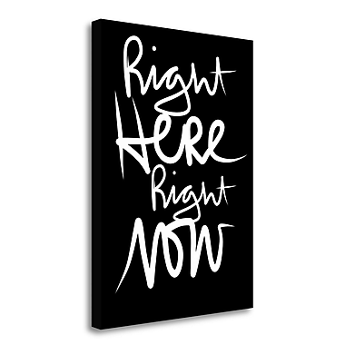 Tangletown Fine Art 'Here Now' Textual Art on Wrapped Canvas; 32'' H x 24'' W