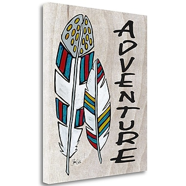 Tangletown Fine Art 'Adventure' Graphic Art Print on Wrapped Canvas; 34'' H x 28'' W