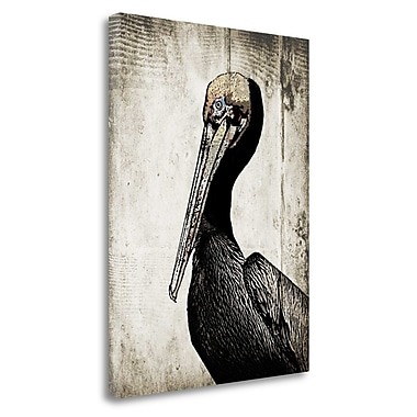 Tangletown Fine Art 'Rustic Brown Pelican' Graphic Art Print Print on Canvas; 33'' H x 25'' W