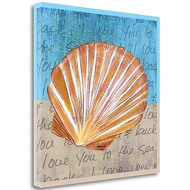 Tangletown Fine Art 'Seashell II' Graphic Art Print Print on Canvas; 25'' H x 25'' W