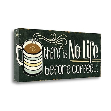 Tangletown Fine Art 'Funny Coffee II' Textual Art on Wrapped Canvas; 13'' H x 32'' W