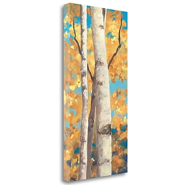 Tangletown Fine Art 'Doubloons Panel I' Print on Wrapped Canvas; 48'' H x 24'' W