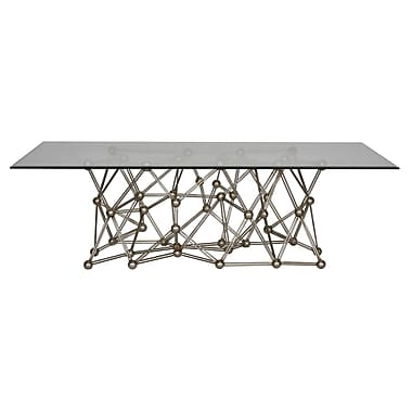 WorldsAway Iron Coffee Table; Silver