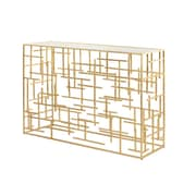 WorldsAway Abstract Console Table; Gold