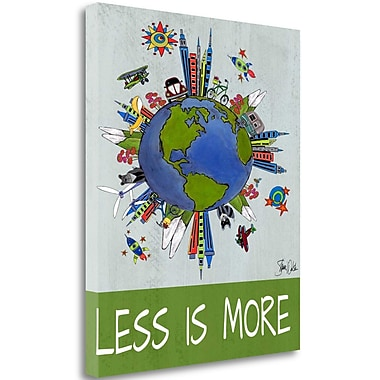 Tangletown Fine Art 'Less is More' Graphic Art Print on Canvas; 34'' H x 28'' W