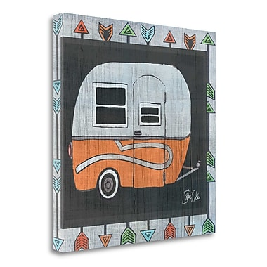 Tangletown Fine Art 'Orange Camper - At The Lake' Graphic Art Print on Canvas; 30'' H x 30'' W