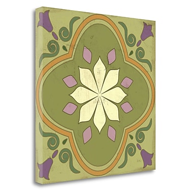 Tangletown Fine Art 'Fresh Herbs Tile II' Graphic Art Print on Wrapped Canvas; 24'' H x 24'' W