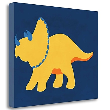 Tangletown Fine Art 'Dino 444' Graphic Art Print on Wrapped Canvas; 18'' H x 23'' W