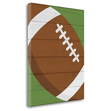 Tangletown Fine Art 'Football II' Graphic Art Print on Canvas; 20'' H x 16'' W