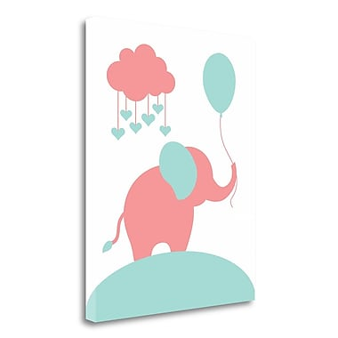 Tangletown Fine Art 'Elephant' Graphic Art Print on Wrapped Canvas; 32'' H x 26'' W