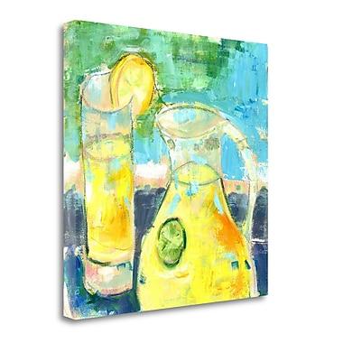 Tangletown Fine Art 'Glass Half Full' Print on Canvas; 35'' H x 35'' W