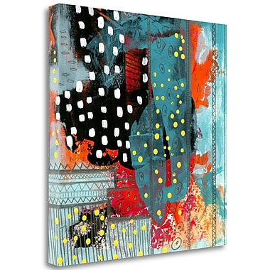 Tangletown Fine Art 'Geometric Abstract II' Print on Wrapped Canvas; 18'' H x 18'' W